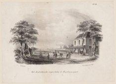Het Amsterdamsche wapen buiten de Haarlemmerpoort. Aan de Haarlemmerweg en Haarl…