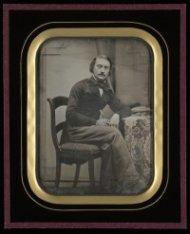 Zelfportret van Pieter Oosterhuis. Daguerreotypie,
