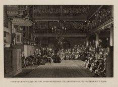 Doop-plegtigheid by de Doopsgezinden te Amsterdam, in de kerk by ''t Lam