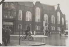 De Oude Lutherse Kerk, Singel 411, gezien vanf de hoek Spui - Spuistraat
