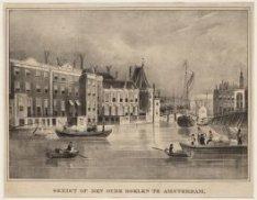 Gezigt op den Oude Doelen te Amsterdam