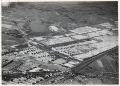 Luchtfoto van het Slotermeerplan in aanleg gezien in zuidwestelijke rchting
