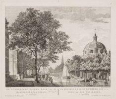 De Luthersche Nieuwe Kerk en de Haringpakkerstoren, te Amsterdam
