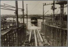 Tewaterlating van het vrachtpassagiersschip ss. van Rensselaer