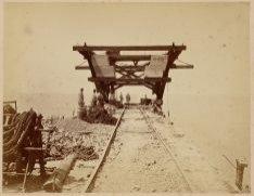 Uiteinde Noorder Zeehoofd in aanbouw (bovenaanzicht) Junij 1870