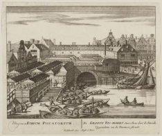 De Grote Vis-Markt, tuschen den ''d Amrak, Vygendam en de Warmoes-Straat