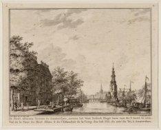 De Mont Albaans Tooren te Amsterdam, nevens het West Indisch Slagt huis van de Y…