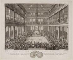 Afbeelding van de eerste Algemeenen Vergadering (in de Luthersche Oude Kerk) van…