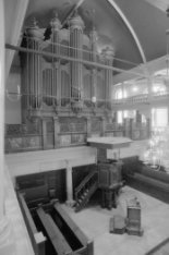 Singel 411. Interieur Oude Lutherse Kerk, nu Aula Universiteit van Amsterdam
