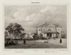 De Botermarkt, het tegenwoordige Rembrandtplein met het Waaggebouw, de voormalig…