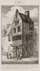 Afbeelding van een Huis in de Bloet Straat, ''t welk van de tweede verdieping af…