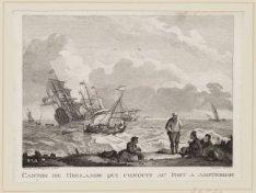 Canton de Hollande qui conduit au Port à Amsterdam