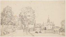 Lijnbaansgracht bij Leidsegracht, gezien naar Leidseplein en Leidse Poort