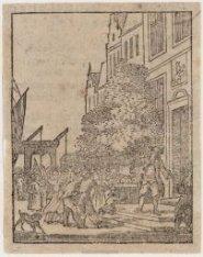 Opschudding voor het huis van Admiraal de Ruyter, Prins Hendrikkade nummer 131. …
