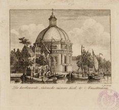 De herbouwde Luthersche nieuwe Kerk, te Amsterdam