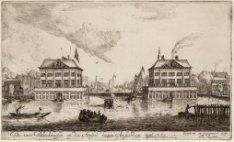 De twee Blockhuizen op den Amstel buiten Amsterdam. Gemaakt Ao 1651, Afgebrooken…