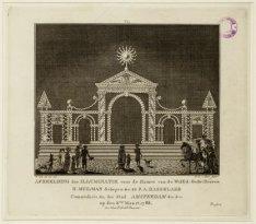 Afbeelding der illuminatie voor de Huizen van de WelEd: Gestr: Heeren H. Muilman…