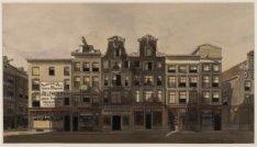 Warmoesstraat 190-198, in januari 1912 afgebroken