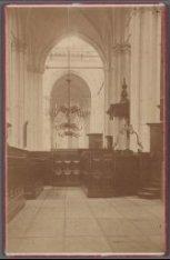 Interieur van de Nieuwe Kerk, Dam 12. Gezicht op de dooptuin vanuit de noordelij…