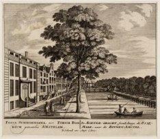 De Achtergracht, siende langs de Ossemaaaaark; naar de Binnen-Amstel