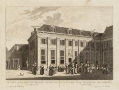 Gezicht van het Meysjes Burger-Weeshuys, tot Amsterdam. Vue de la Maison des Orp…