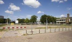 Het terrein van de voormalige synagoge van de Liberaal Joodse Gemeente aan de Ja…