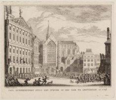 Capt. Scheerenberg stilt het oproer op den Dam te Amsterdam Ao 1747