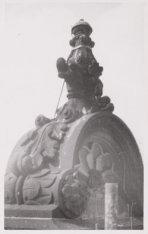 Exterieur, Nieuwe Kerk, Dam 12. Een ornament aan het noorder transept. Achterzij…