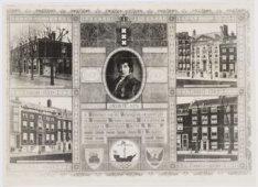 Jubileum-tegeltableau van de Onderlinge Brandwaarborg Maatschappij de Jong 1809-…