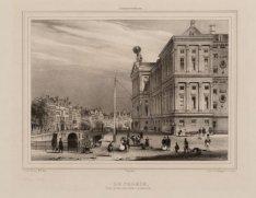 Amsterdam - Le Palais - Vue prise du côté Occidental