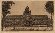Het Paleis voor Volksvlijt, Frederiksplein 56. Techniek: ets