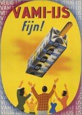 Affiche voor ijs van VAMI, de Vereenigde Amsterdamsche Melkinrichtingen