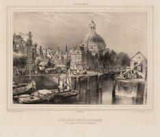 L'Eglise Lutherienne Vue prise sur le Canal (dit Singel)