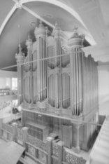 Singel 411, Oude Lutherse Kerk, interieur met orgel