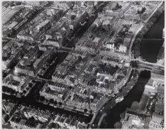 Luchtfoto van de Kinkerbuurt, gezien naar het noorden