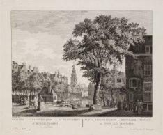 Gezicht van ''t Koningsplein naar de Reguliers- of Munts-tooren, te Amsterdam
