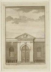 De ingang van de Stadsschouwburg op Keizersgracht 384. Datering voorstelling: 17…