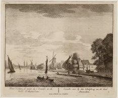 Gezicht voor by den Schulpbrug na de Stad Amsterdam
