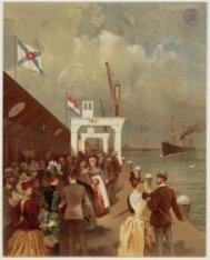 Mogelijk de aankomst van de Prins Alexander bij de maatschappij Nederland, Ooste…