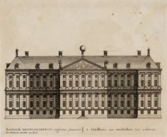 Basilicae Amsteladamensis conspectus posterior - 't Stadhuis van Amsteldam van a…