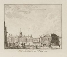 Het Stadhuis, de Waag, enz