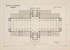 Plattegrond van het Paleis voor Volksvlijt (Galerij-verdieping). Verbouwingsplan…