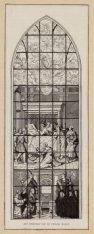 Gebrandschilderd raam van de Mariakapel in de Oude Kerk, voorstellende 'Het ster…