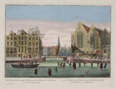 Winter-Gezicht, op de Cingel, voor de Luthersche Oude Kerk te zien, tot Amsterda…