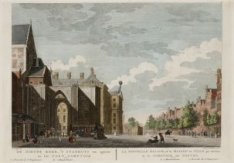 De Nieuwe Kerk, ''t Stadhuys van agteren en het Post Comptoir te Amsterdam