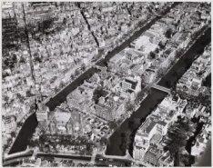 Luchtfoto van de Prinsengracht, gezien naar het noorden