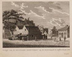 Gezigt van de Militaire Hooftwagt op de Botermark te Amsterdam, 1788