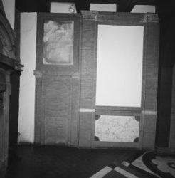Nieuwmarkt 4, Waag, interieur met metselwerk (metselaarsgilde)