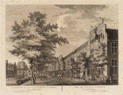 Gezicht van het Latynsche School tot Amsterdam
