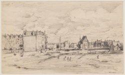 De eerste woningen aan de Ceintuurbaan (257-263) bij de Amstel